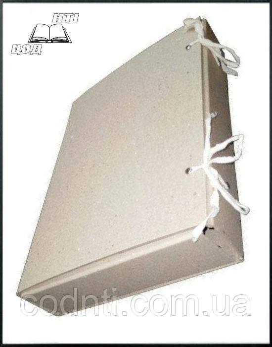 Папка-бокс картонная А4 с завязками 60 мм