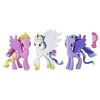 Королевские пони селестия, твайлат, каденс My Little Pony Royal Ponies Celestia Luna Cadence