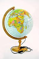 Глобус с подсветкой настольный 320 мм политико-физический (рус.) BST 540108