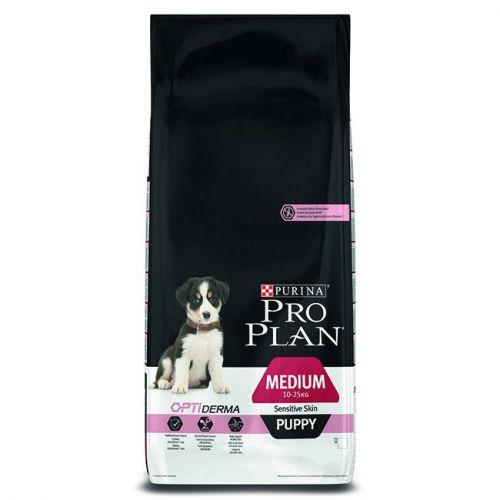 Purina Pro Plan Dog Medium Puppy Optiderma Сухой Корм, 12 Кг
