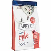 Happy Cat Sensitive Ente,сухой корм для взрослых кошек с чувствительным пищеварением, утка, 4 кг