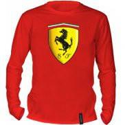 Футболка с длинным рукавом с принтом Ferrari Logo 3D