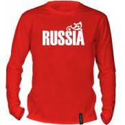 Футболка с длинным рукавом с принтом Россия