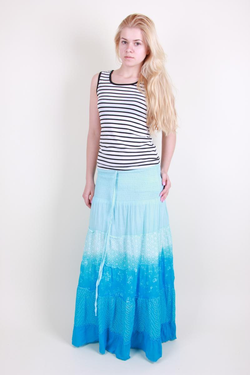 Нарядная летняя молодежная юбка с переходом цвета