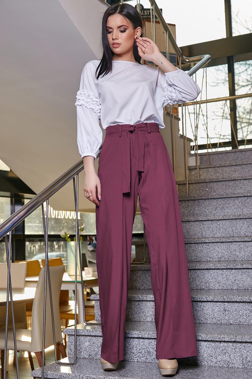 Модные женские брюки  3346 марсала