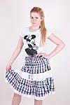 Легкая женская юбка модного кроя в клетку, фото 3