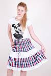 Легкая женская юбка модного кроя в клетку, фото 4