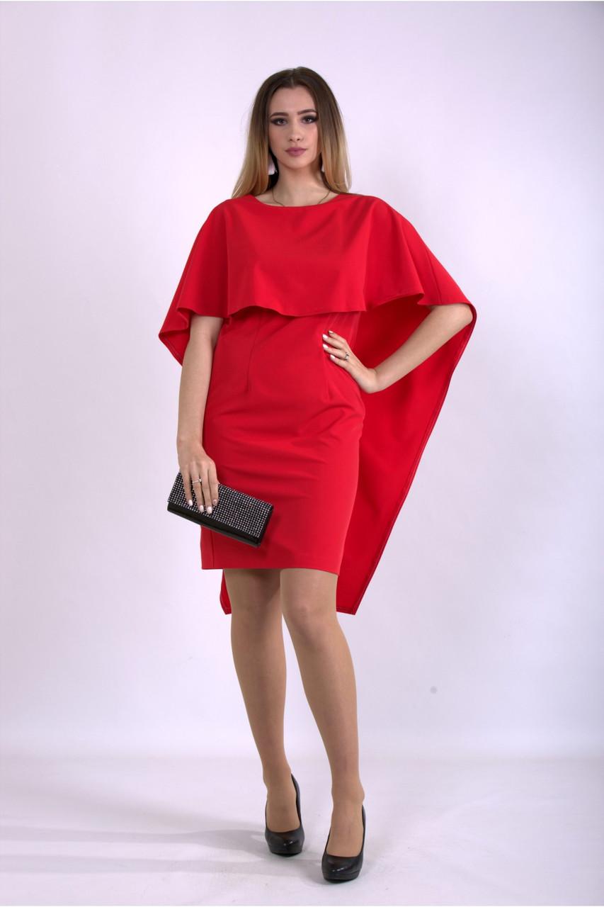 Алое оригинальное платье нарядное большой размер 42-74. 01144-1