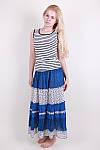 Молодежная летняя юбка  цветочным принтом из натуральной ткани, фото 2