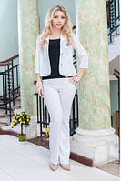 Женский летний костюм 2033 Белый, фото 1