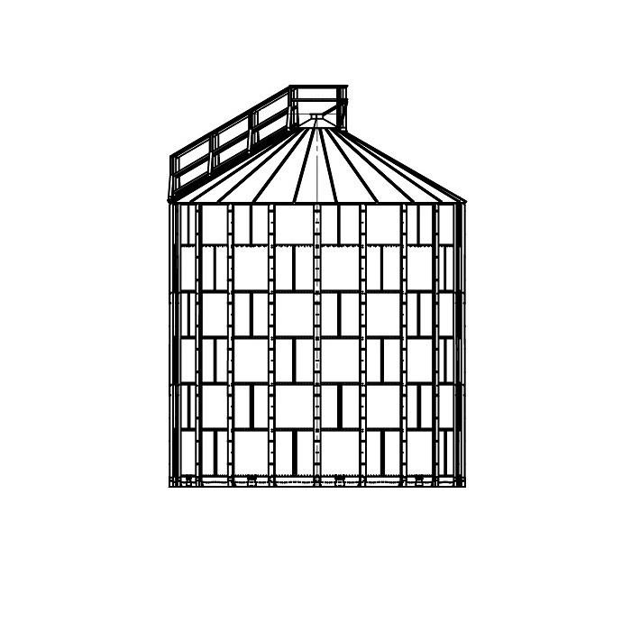 Зернохранилище с плоским дном