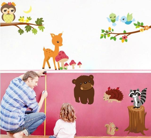 Набор детских декоративных наклеек Лесные жители