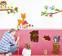 Набор детских декоративных наклеек Лесные жители, фото 1
