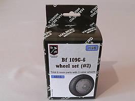 Резиновые колеса с дисками для сборной модели самолета BF 109G-6. 1/48 HALBERD MODELS 4815