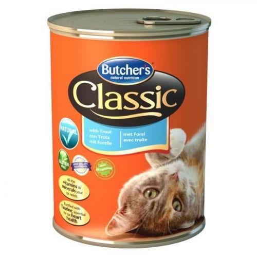 Butchers Cat Classic Консервы Для Кошек Форель 400 Г