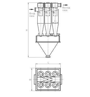 ЦН-15х6УП Циклон