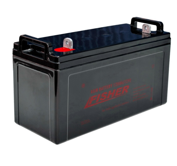 AGM аккумулятор для лодочного электромотора 100Ah Fisher 12B