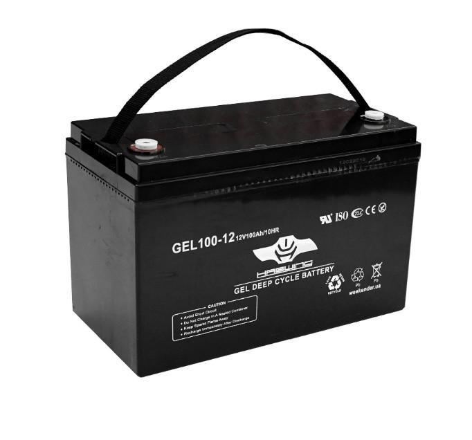 Гелевый аккумулятор для лодочного электромотора Haswing 100Ah 12V вес-308кг 100Ah gel H