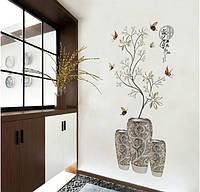 Наклейка для интерьера дома Ваза с цветами