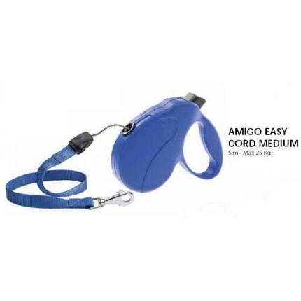 Ferplast Amigo Easy M Cord Blu Поводок-Рулетка Шнур, Синий, 5 М, До 25 Кг, фото 2