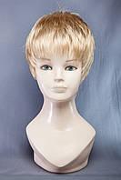 Короткие парики №12,цвет мелирование светло-русый с белым