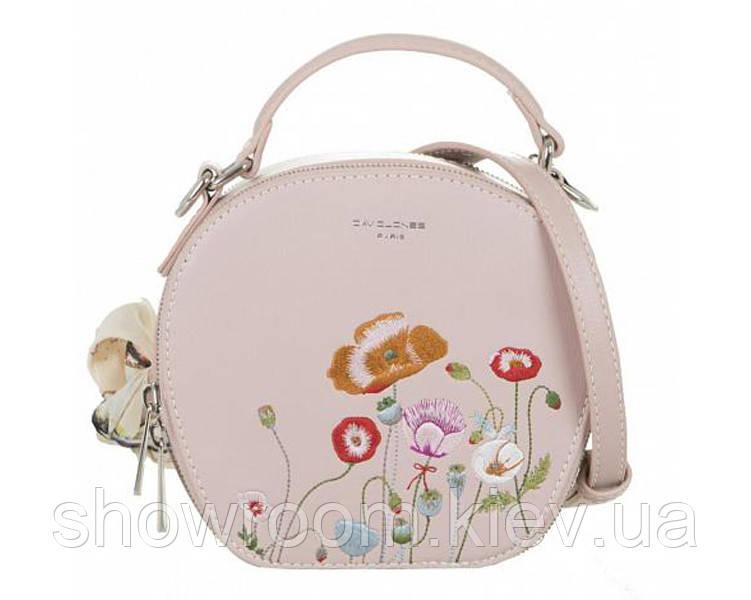 Женская стильная сумка с вышивкой David Jones (765) rose