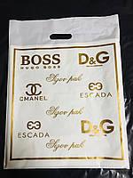 Пакет банан,,Мировые бренды,,(Возможен любой размер,дизайн,Ваш логотип, с донным фальцем и без)