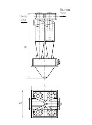 ЦН-15-550-4УП Циклон
