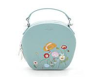 Женская стильная сумка с вышивкой David Jones (765) салатовый, фото 1