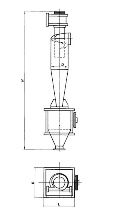 ЦН-11-630-1УП с улиткой и бункером