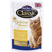 Butcher`s Cat Delicious корм для кошек, курица и печень, пауч, 100 г