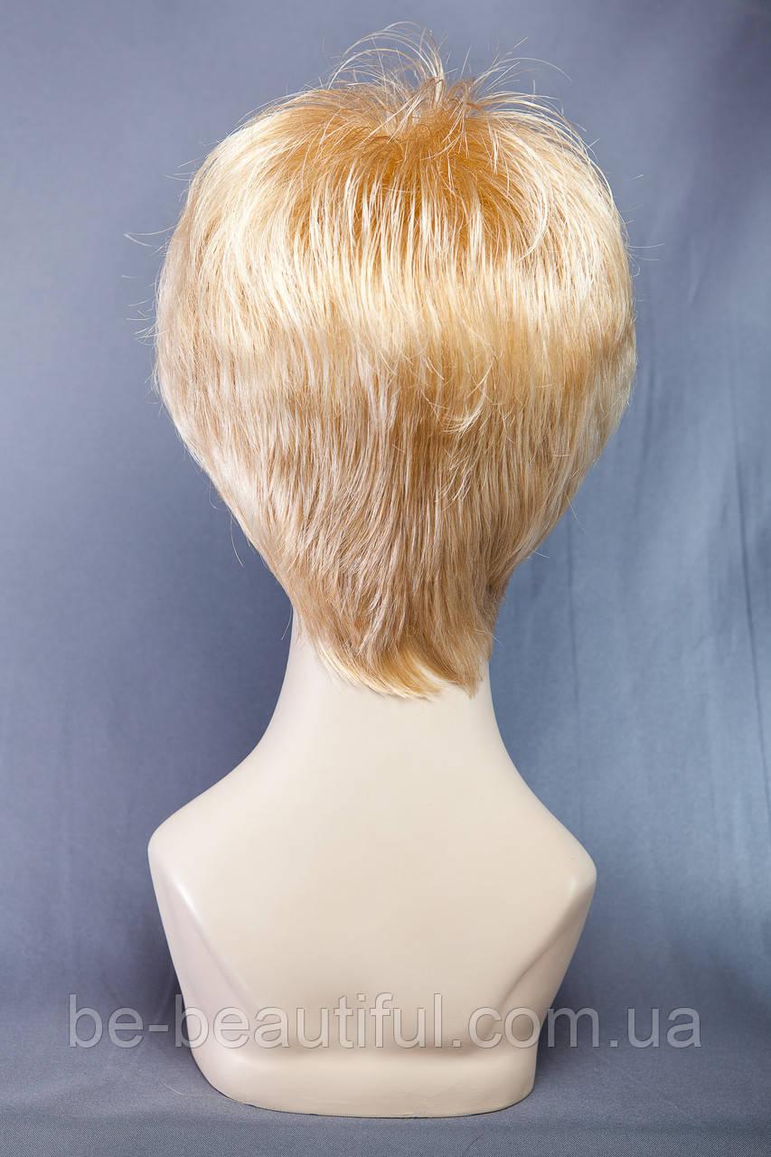 Короткие парики №9,цвет мелирование пшеничный с белым