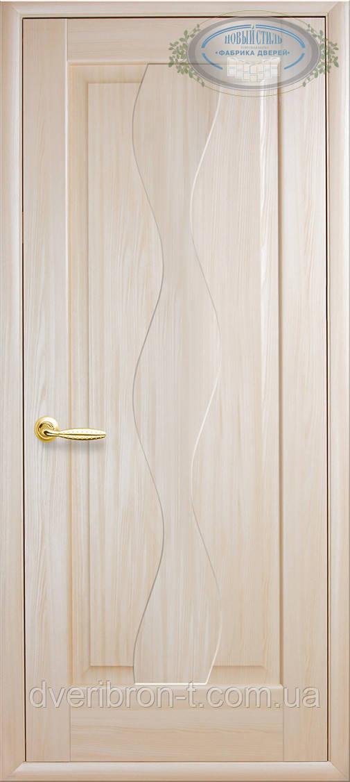 Двери Новый Стиль Волна глухое ясень, коллекция Маэстра Р