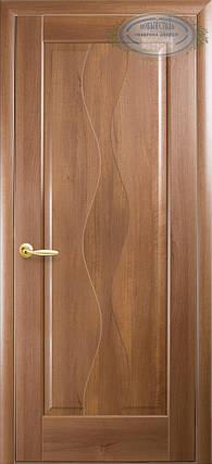Двери Новый Стиль Волна глухое золотая ольха, коллекция Маэстра Р, фото 2