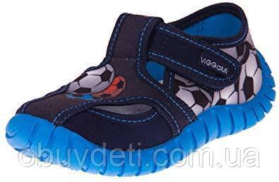 37b5ef2666dd27 Синие детские тапочки viggami 27 размер-16.8 см - Интернет-магазин