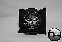 Спортивные наручные часы Casio G-Shock GA 100 Черные с белым, фото 1
