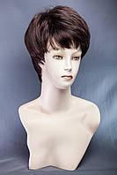 Короткие парики №9,цвет мелирование черный натуральный с баклажаном