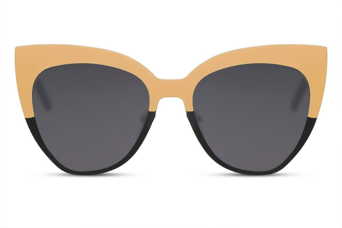 Женские солнцезащитные очки Cat Eye в металлической оправе