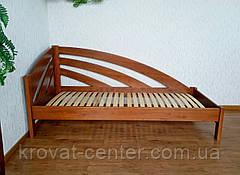 """Угловая односпальная кровать из массива дерева """"Радуга"""" от производителя, фото 2"""