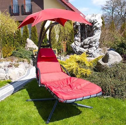 Гамак садовый deLUX, красный, фото 2