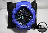 Спортивные наручные часы Casio G-Shock GA 100 Синие  РАСПРОДАЖА