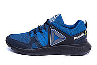 Мужские летние кроссовки сетка в стиле Reebok blue синие, фото 1