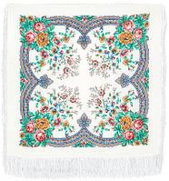 Ласковое утро платок шерстяной с шелковой бахромой, фото 1