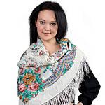 Ласковое утро платок шерстяной с шелковой бахромой, фото 2