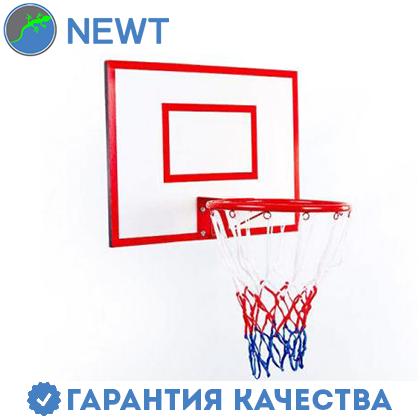 Щит баскетбольный детский Newt Jordan с кольцом и сеткой 600х450мм, фото 2