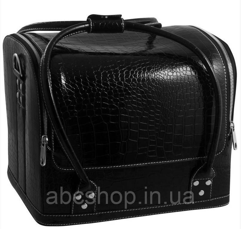 Кейс-чемодан для мастера (черный, крокодил)