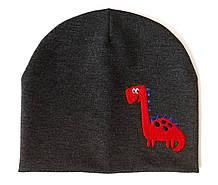 """Детская шапка """" Red dinosaur"""""""