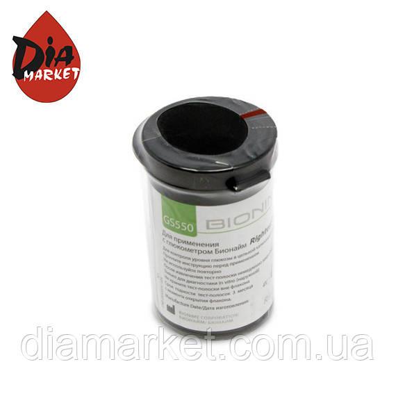 Тест-полоски Bionime GS550 , 1 упаковка по 25 тест-полосок