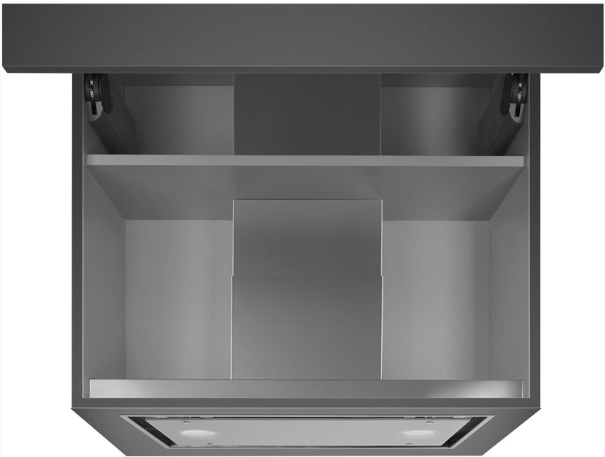 Встраиваемая вытяжка Smeg KSGT56B нержавеющая сталь, белое стекло