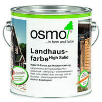 Непрозрачная краска для деревянных фасадов Osmo Landhausfarbe 2203 желтая ель 0,75 л